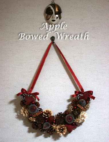 トロッケンクランツ ---リンゴの弓形リース---_d0133320_2348735.jpg