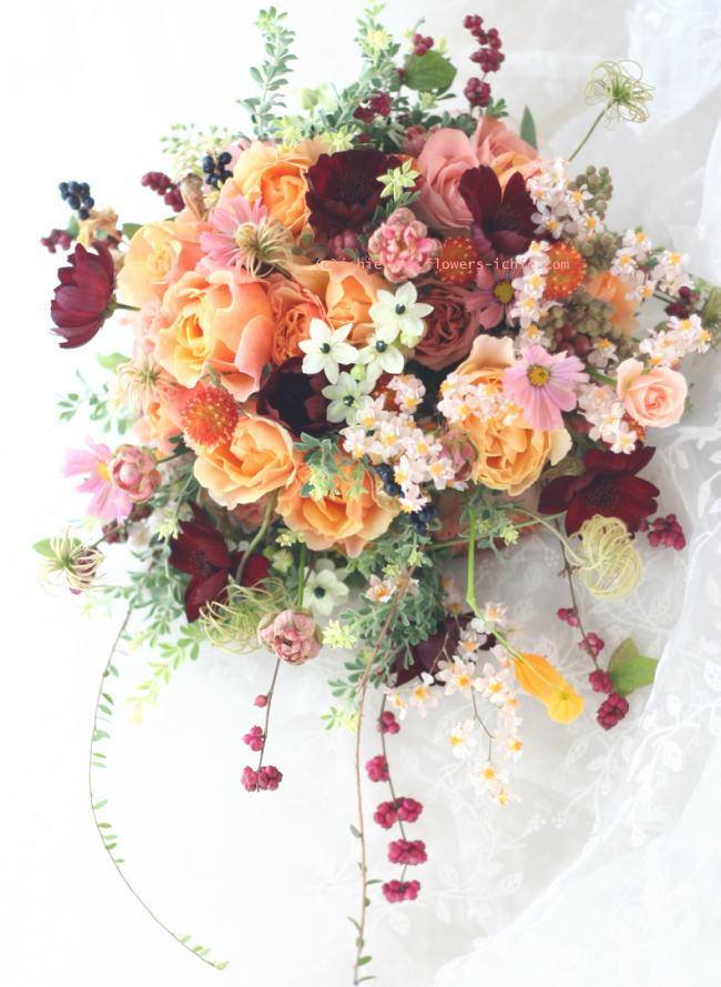 結婚式のブーケ 秋の光_a0042928_22341414.jpg