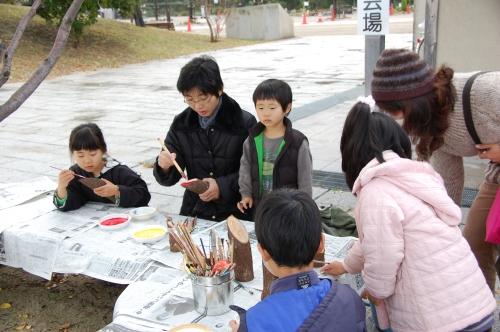 2009「丸太を切ってサンタを作ろう」 in せんなん里海公園_c0108460_2237645.jpg