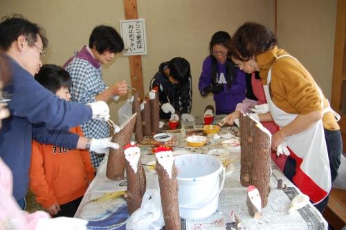 2009「丸太を切ってサンタを作ろう」 in せんなん里海公園_c0108460_2238235.jpg