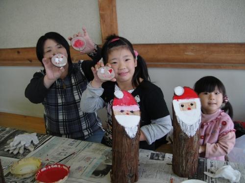 2009「丸太を切ってサンタを作ろう」 in せんなん里海公園_c0108460_22465024.jpg