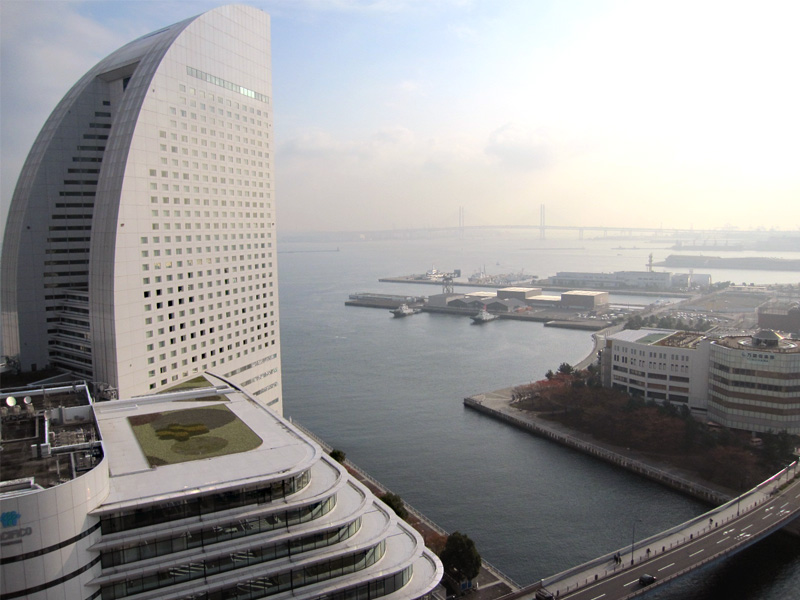 パンパシフィック横浜ベイホテル♡朝の眺め♡_f0119369_1126549.jpg