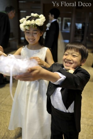 子供の花冠 白とシルバー_b0113510_22521545.jpg