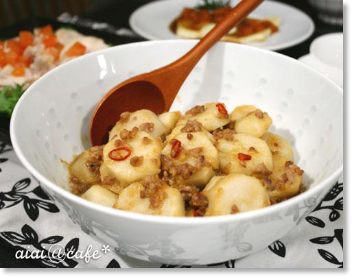 里芋のネギ味噌炒め_a0056451_15361152.jpg