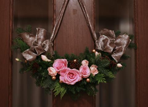 クリスマスの花綵(づな) フェスツーン_d0133320_23341655.jpg