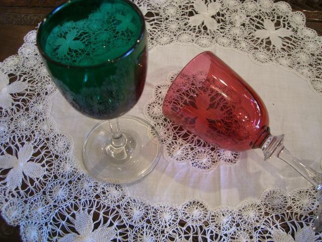 クリスマスカラーのグラスは..........._d0127182_1527556.jpg