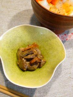 湯たんぽと・・・鶏レバーの時雨煮。_f0177295_1853418.jpg