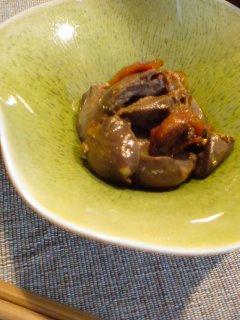 湯たんぽと・・・鶏レバーの時雨煮。_f0177295_1853445.jpg