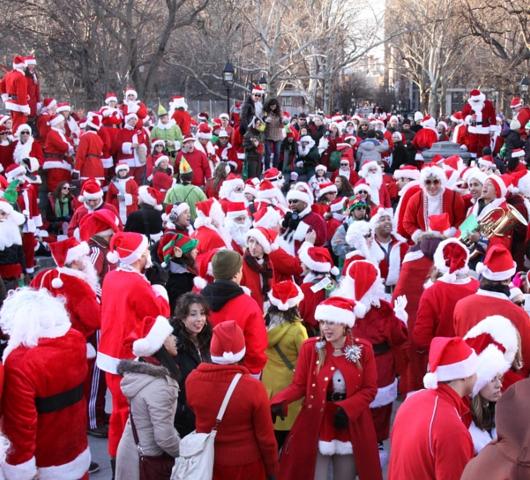 ニューヨークを大量のサンタさんで占拠! SantaCon 2009 (その2)_b0007805_20253760.jpg