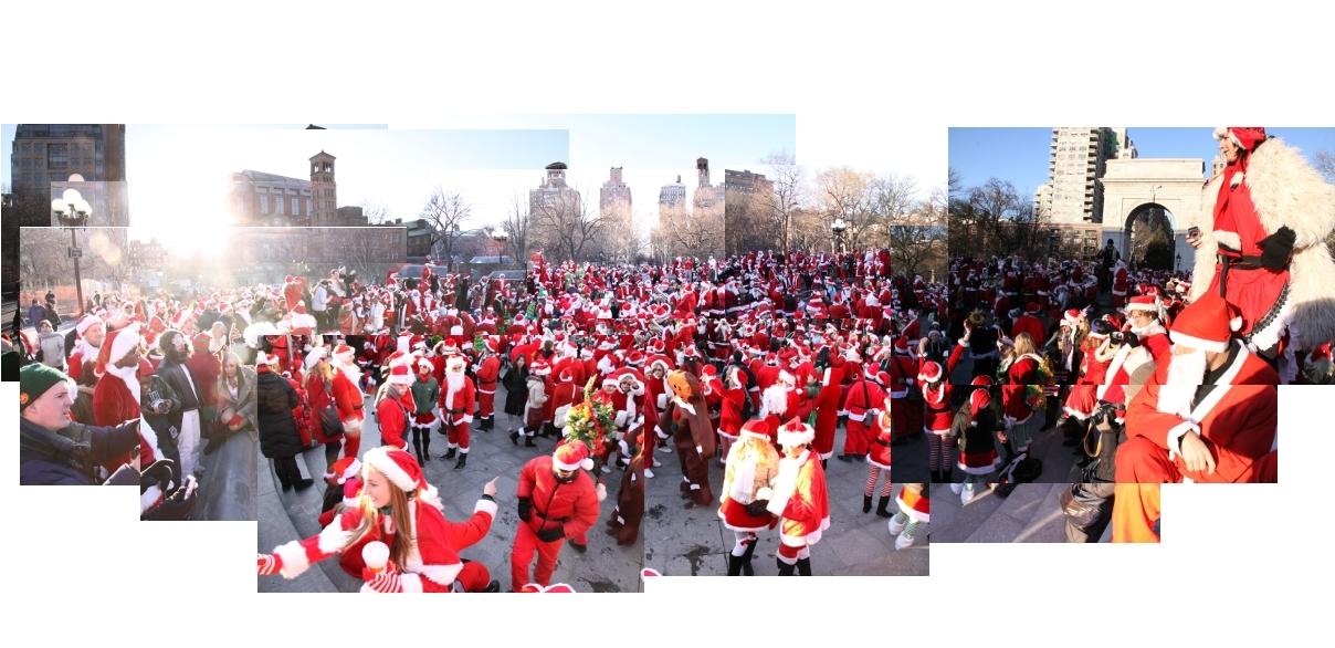 ニューヨークを大量のサンタさんで占拠! SantaCon 2009 (その1)_b0007805_242460.jpg
