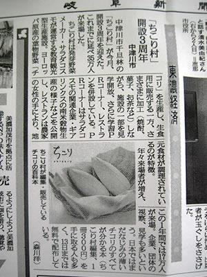 岐阜新聞にちこり村開設3周年_d0063218_9272725.jpg