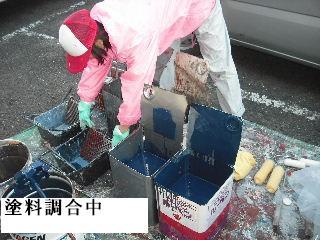 賃貸物件・屋根塗装と浴室リフォーム工事中_f0031037_19124379.jpg