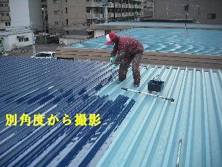賃貸物件・屋根塗装と浴室リフォーム工事中_f0031037_19152854.jpg