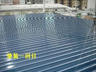 賃貸物件・屋根塗装と浴室リフォーム工事中_f0031037_19154838.jpg