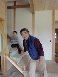 草深の家(そうふけのいえ)が完成間近。よちくん現場に行く。_c0195909_17534542.jpg