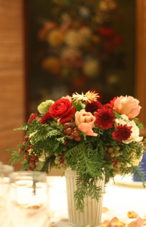 シティクラブオブ東京様への装花 クリスマスの前に_a0042928_2222345.jpg
