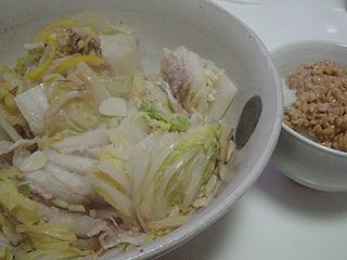 豚バラと白菜の重ね蒸し_c0025217_033837.jpg