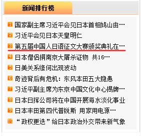 第五回「中国人の日本語作文コンクール」表彰式開催の記事 人民網日本版アクセス3位に_d0027795_1749586.jpg