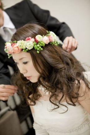 2009.12.18 花嫁さまのお写真 みささんの花冠_b0120777_2050114.jpg