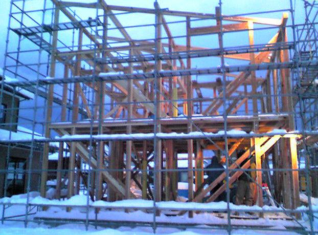 「薬師堂の家」 建て込み中_f0150893_19512156.jpg