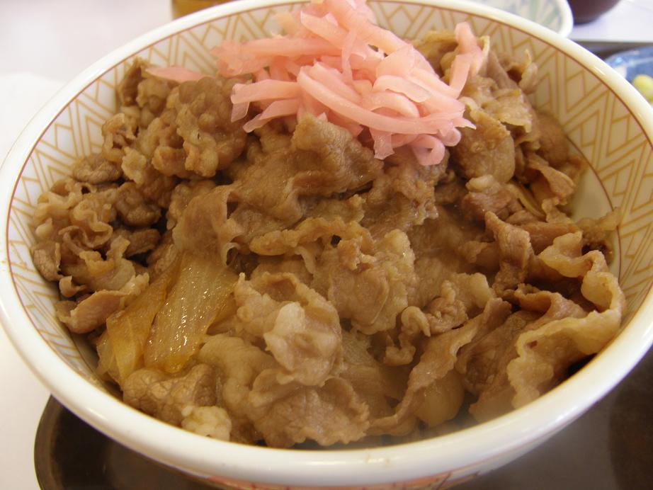 すき家の牛丼    中環大日店_c0118393_7413374.jpg