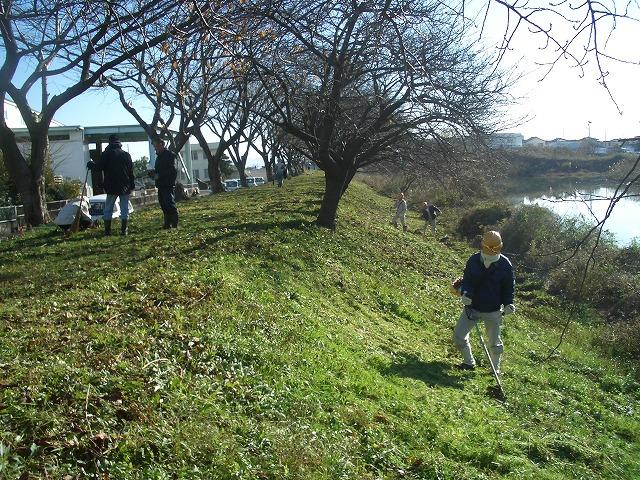 「春のお花見ウォーク」に向けた沼川、滝川の遊歩道整備_f0141310_2315326.jpg
