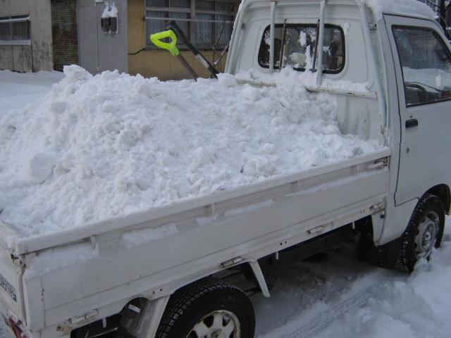 【軽トラ】排泄、、、あ、いや、排雪!!_e0159646_85844.jpg