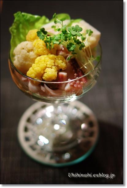 カリフラワーとれんこんの甘酢漬けサラダ_f0179404_20511288.jpg