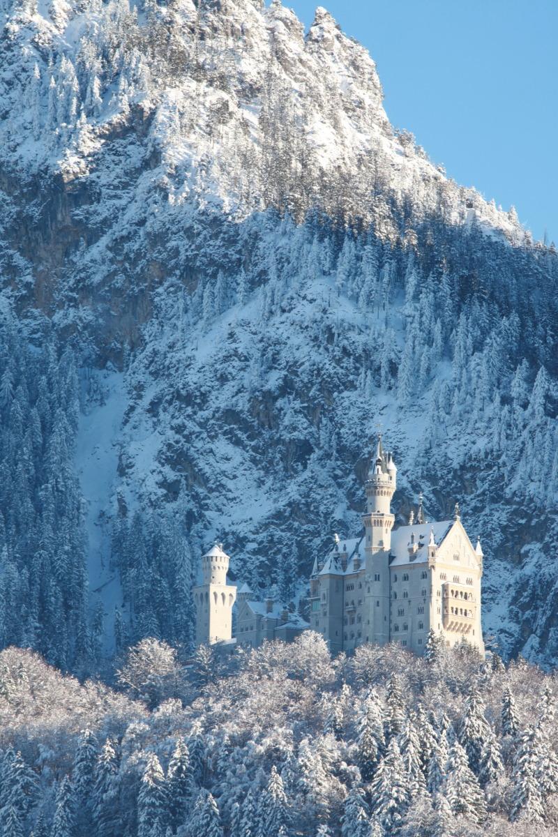 雪景色のノイシュバンシュタイン城_c0187779_505249.jpg