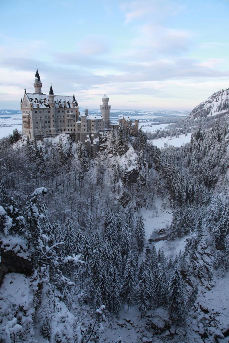 雪景色のノイシュバンシュタイン城_c0187779_525082.jpg