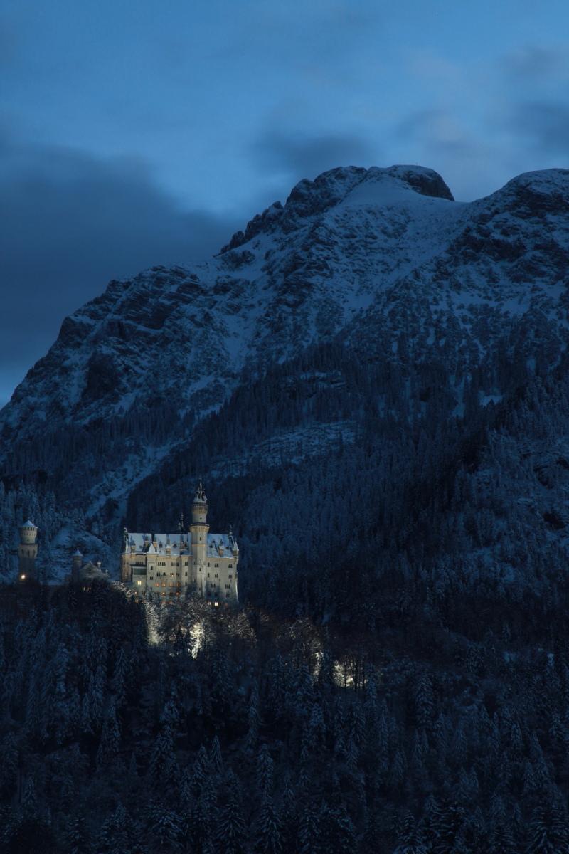 雪景色のノイシュバンシュタイン城_c0187779_543559.jpg