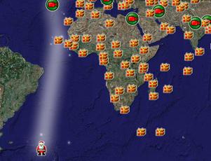 ただ今、世界中を巡るサンタさんをネット中継中!Tracks Santa2009_b0007805_16202038.jpg