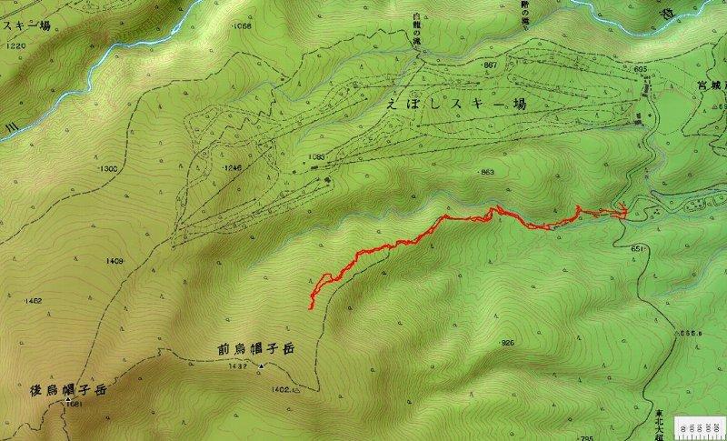 蔵王・前烏帽子岳を目指すも敗退 ~ 2009年12月23日_f0170180_8134974.jpg