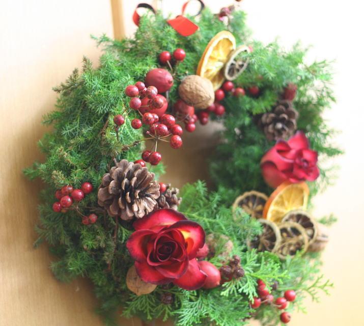 一会定期スクール12月 クリスマスリース_a0042928_221451.jpg