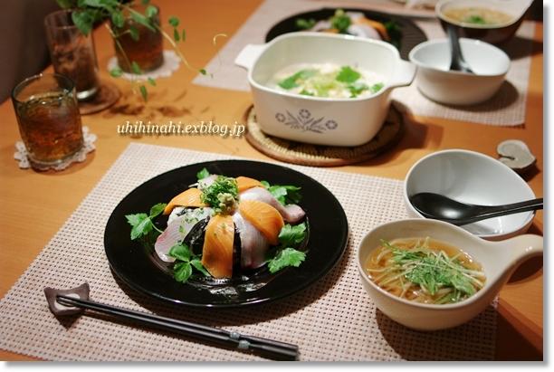 鮭とぶりの海鮮丼_f0179404_19554875.jpg