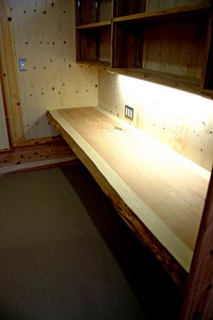 へり付き厚板のカウンターテーブル_d0082238_20594065.jpg
