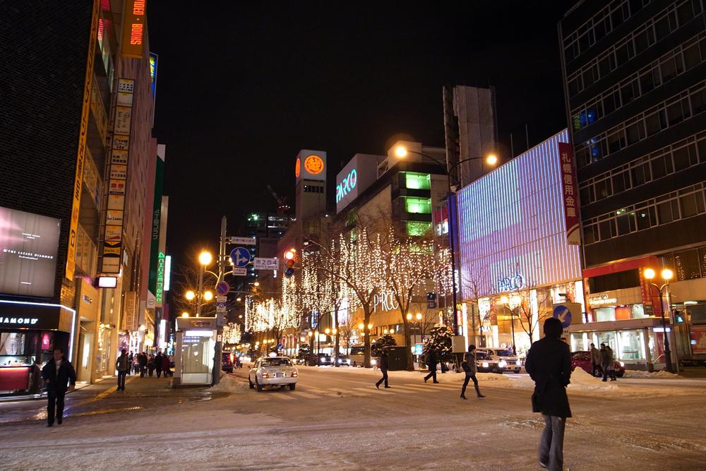 札幌駅前通 : 札幌日和下駄