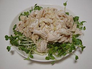 鶏ささみとかいわれのチーズマリネ_c0025217_11444228.jpg