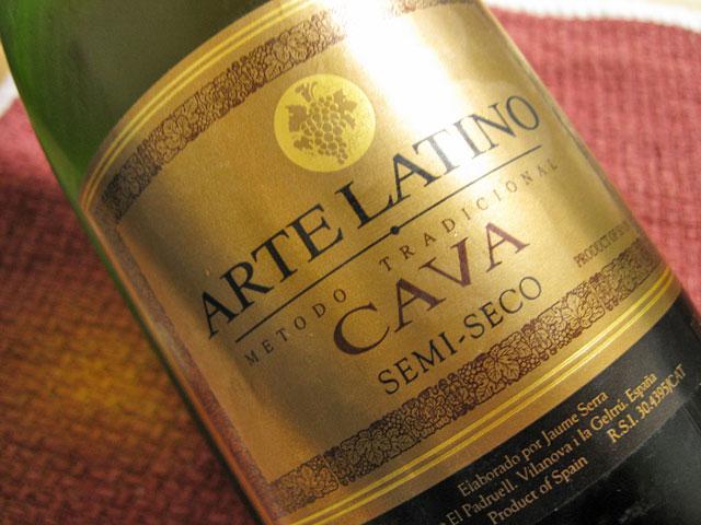 2009年11月ワインARTE LATINO CAVA SEMI-SECO_a0016730_23202020.jpg