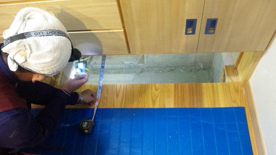 Q1西落合の家:床下暖房用のエアコンが設置_e0054299_16215980.jpg