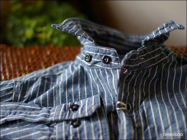 OMNIGOD[オムニゴッド] ストライプシャンブレーレギュラーシャツ2 [men\'s]_f0051306_20545078.jpg