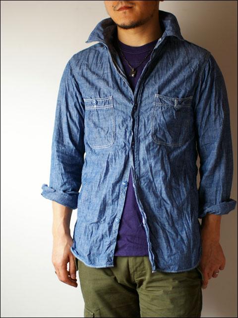 orslow [オアスロウ] chambray shirts [シャンブレーシャツ] blue_f0051306_2113050.jpg