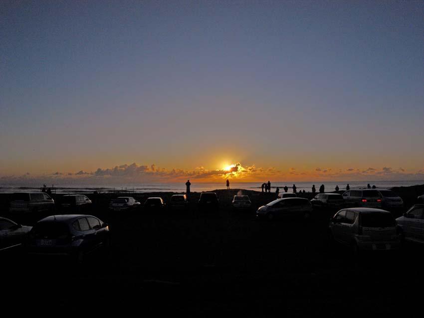 初日の出を拝む     千葉県・九十九里浜_d0149245_21374092.jpg