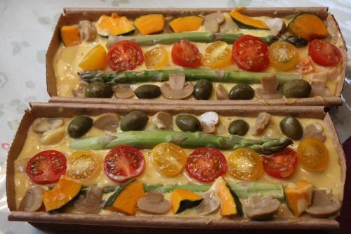 野菜たっぷりの ケーク・サレ _c0118352_16142855.jpg