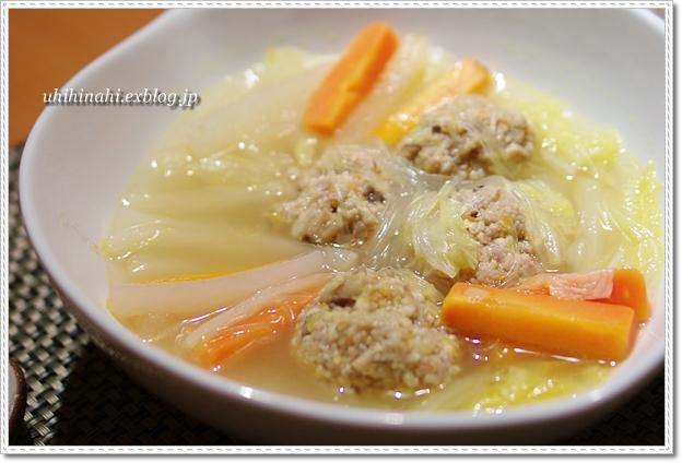 高野豆腐の肉団子入り野菜スープ_f0179404_2261499.jpg