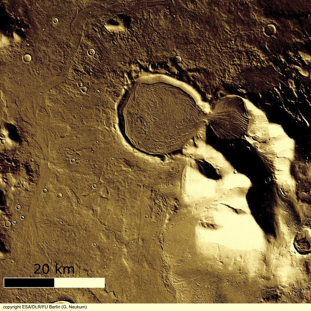 火星の遺跡:アワーグラス(砂時計)クレーター、サクラホッセ_e0171614_10191772.jpg