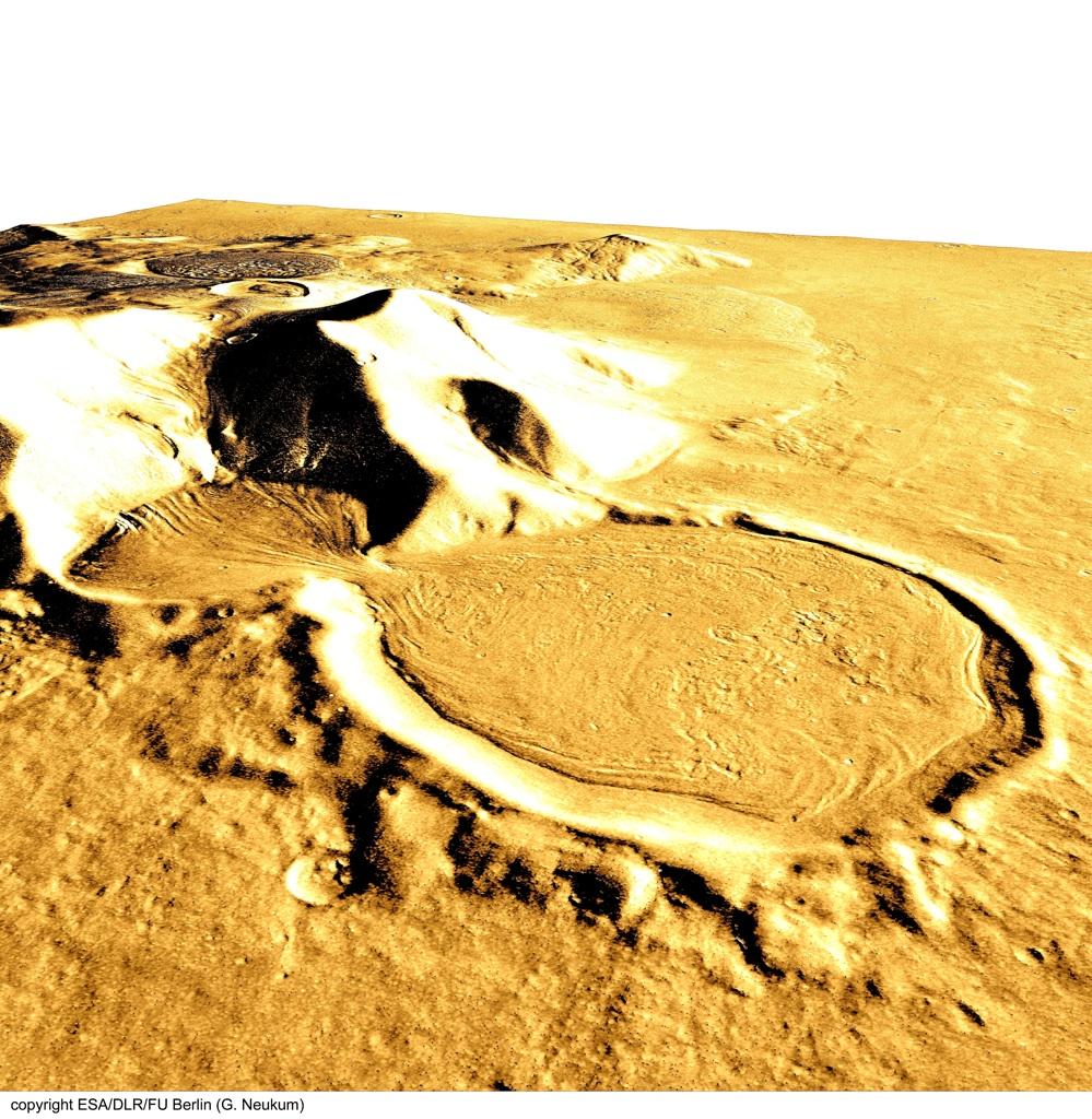 火星の遺跡:アワーグラス(砂時計)クレーター、サクラホッセ_e0171614_10262443.jpg