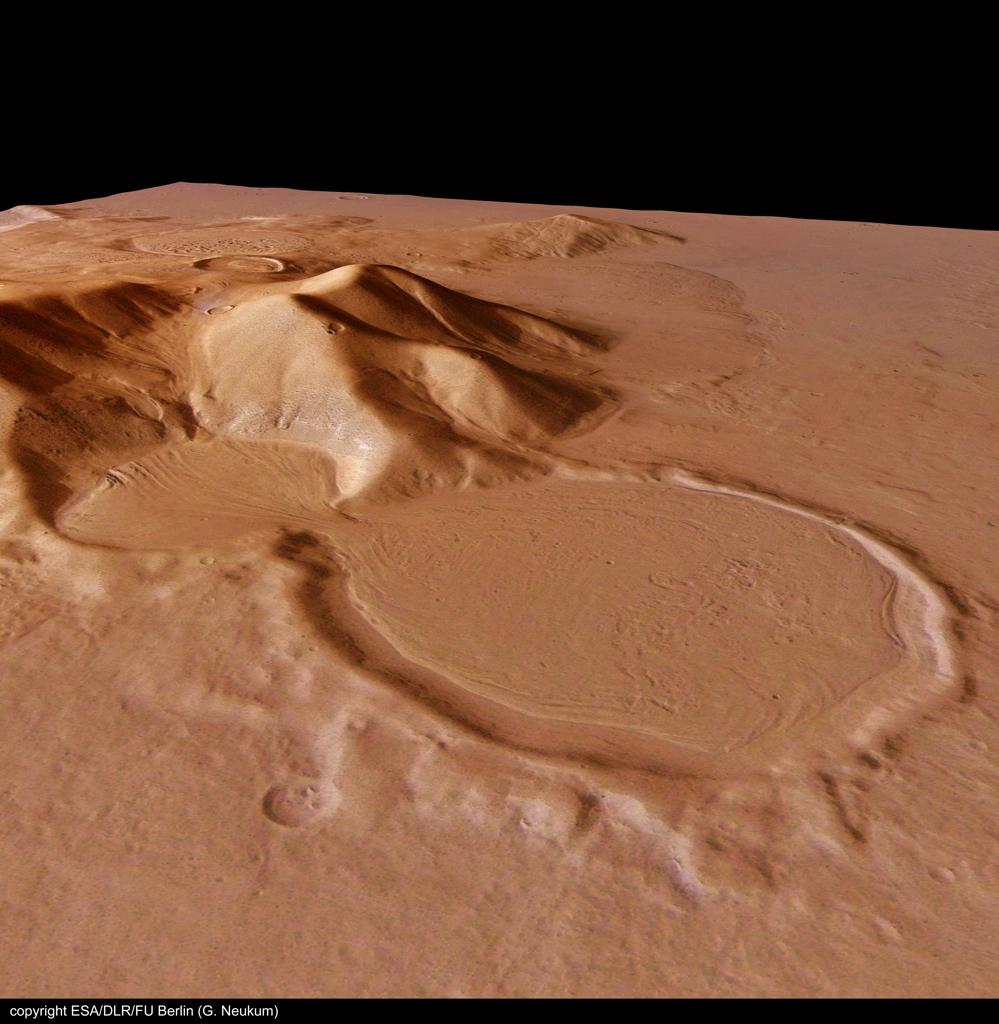 火星の遺跡:アワーグラス(砂時計)クレーター、サクラホッセ_e0171614_1028333.jpg