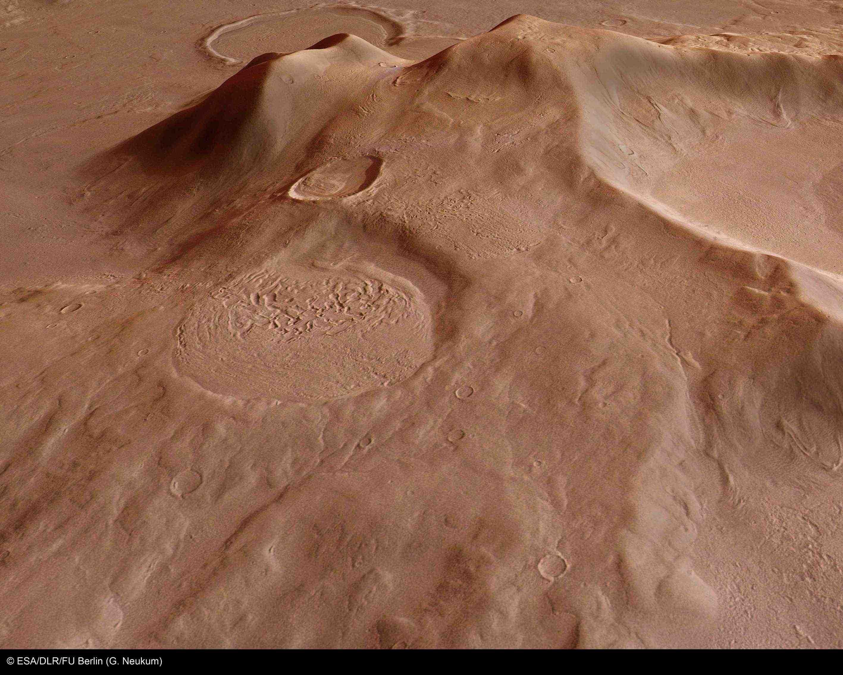 火星の遺跡:アワーグラス(砂時計)クレーター、サクラホッセ_e0171614_10293545.jpg