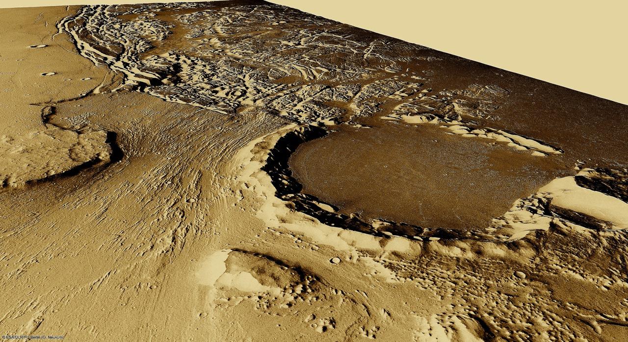 火星の遺跡:アワーグラス(砂時計)クレーター、サクラホッセ_e0171614_10312391.jpg